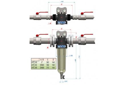 Vodni filtri za toplotne črpalke voda-voda, MESEC ATČ /